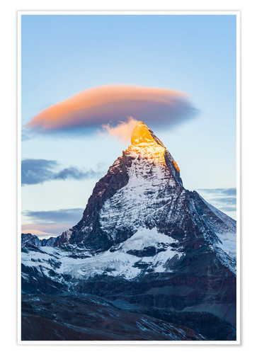 Poster Premium Matterhorn in Switzerland