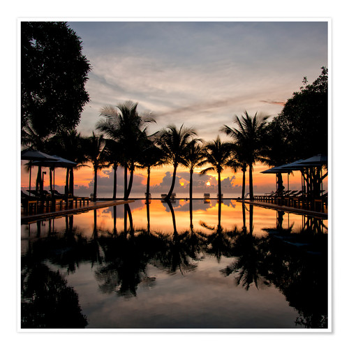Poster Premium Luxury infinity pool on the Gulf of Thailand