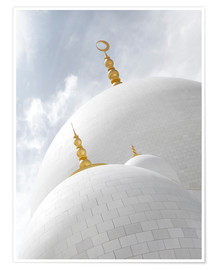 Poster Premium  white cupolas of sheikh zayed mosque