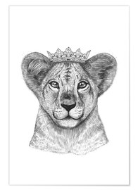 Poster  The kid lion - Valeriya Korenkova