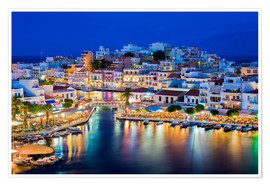 Poster Premium  Agios Nikolaos on the island of Crete