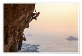 Poster Premium  Climber on Kalymnos - Greece
