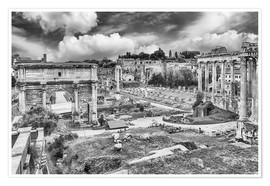 Poster Premium ruins of the Roman Forum in Rome