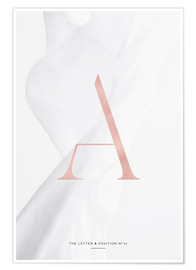 Poster Premium ROSE GOLD LETTER COLLECTION A