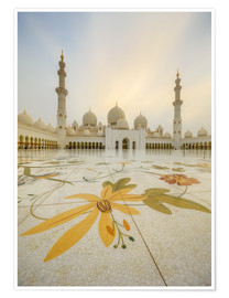 Poster Premium  Courtyard of Sheikh Zayed Grand Mosque