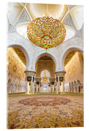 Vetro acrilico  Gold sheen of the Sheikh Zayed Mosque