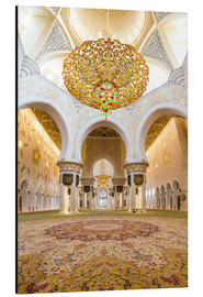 Alluminio Dibond  Gold sheen of the Sheikh Zayed Mosque