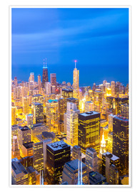 Poster Premium  Chicago City at night