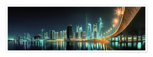 Poster Premium Panoramic view - Dubai Business Bay