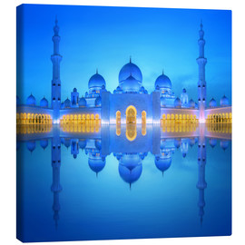 Tela  Sheikh Zayed Grand Mosque at blue