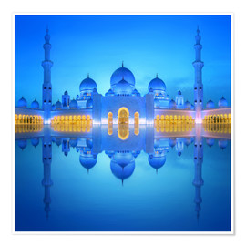 Poster  Sheikh Zayed Grand Mosque at blue