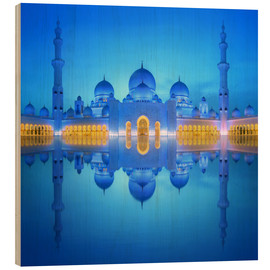Legno  Sheikh Zayed Grand Mosque at blue