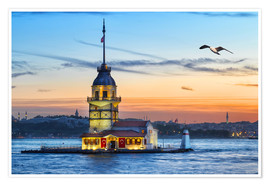 Poster Premium  Maiden's Tower on the Bosphorus