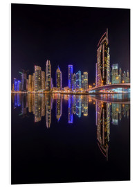 Dubai marina in deep black