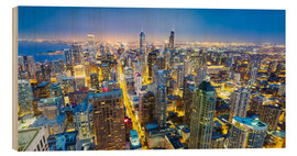 Legno  Night view of Chicago