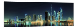 Stampa su schiuma dura  Panorama of the business houses of Dubai