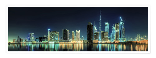 Poster Premium Panorama of the business houses of Dubai