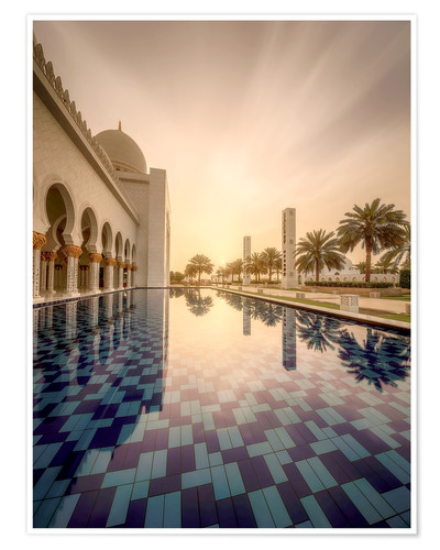Poster Premium Detail of Sheikh Zayed Mosque