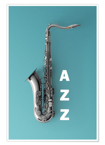 Poster Premium Saxophone on color II