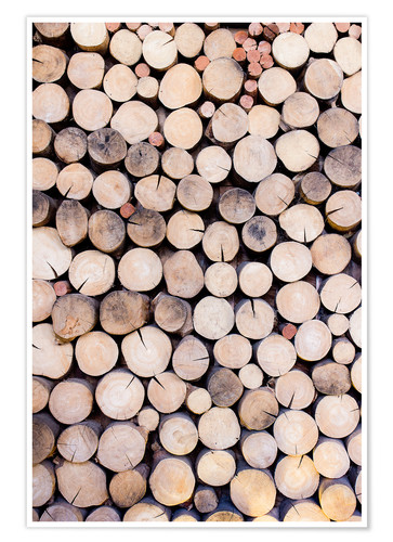 Poster Premium Decorative woodpile