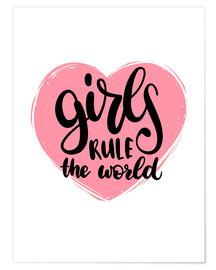 Poster Premium  Girls rule the world - Typobox