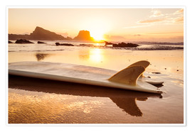 Poster Premium Surfboards at the beach