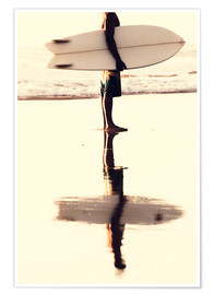Poster Premium Surfer reflection