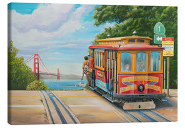 Stampa su tela  To Golden Gate Bridge - Georg Huber