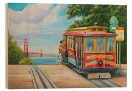 Stampa su legno  To Golden Gate Bridge - Georg Huber