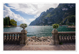 Poster Premium Lake Garda in the summer