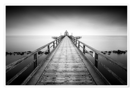 Poster Premium Pier Sellin | black-white (Rügen / Baltic Sea)