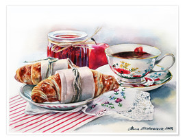 Poster Premium Croissant with apple jam