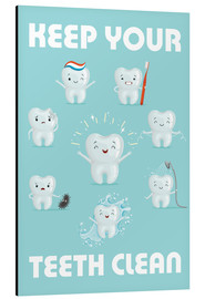 Stampa su alluminio  Keep your teeth clean - Kidz Collection