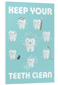 Stampa su schiuma dura  Keep your teeth clean - Kidz Collection