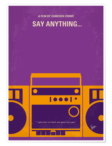Poster Premium Say Anything...