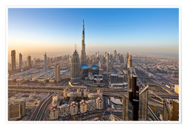 Poster Premium  Sunrise at Dubai City - Dieter Meyrl