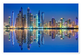 Poster Premium Dubai Marina at dawn