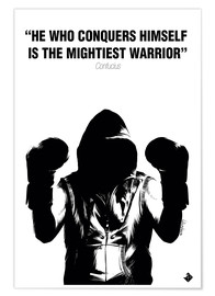 Poster Premium  WARRIOR Motivational Quotes - Paola Morpheus