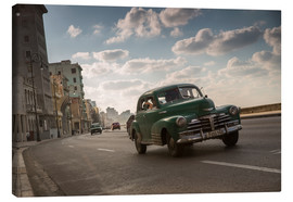 Tela  Cuban american car driving through Havana, Cuba. - Alex Saberi