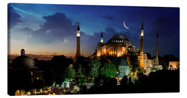 Stampa su tela  View of Hagia Sophia after sunset