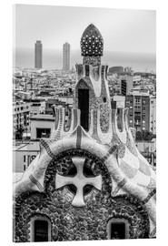 Stampa su vetro acrilico  Impressive architecture and mosaic art at Park Guell