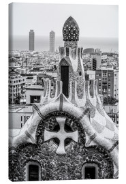 Stampa su tela  Impressive architecture and mosaic art at Park Guell