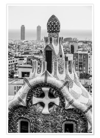 Poster Premium  Impressive architecture and mosaic art at Park Guell