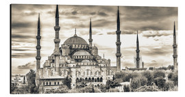 Stampa su alluminio  Blue mosque in sepia