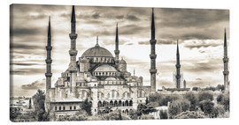 Stampa su tela  Blue mosque in sepia