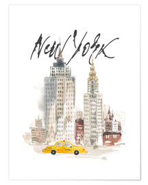 Poster Premium  Grattacieli di New York in acquerello