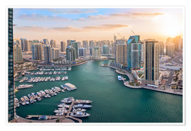 Poster Premium Dubai Marina at Sunset