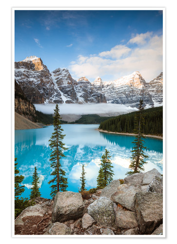 Poster Premium Autumn at Moraine lake, Canada