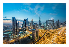Poster Premium Dubai City lights