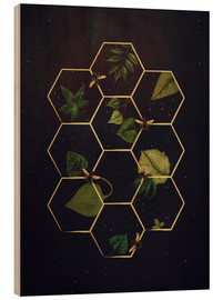 Stampa su legno  bees in space - Sybille Sterk